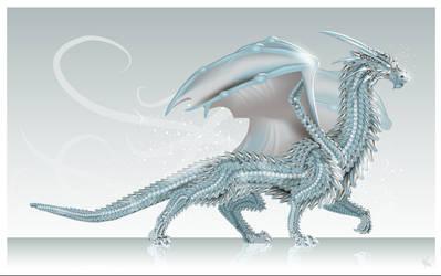 Ice Dragon + scales tutorial by MonikaZagrobelna