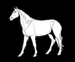Free horse lineart by Humasah