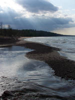 Eagle River and Lake Superior by LodeinArt