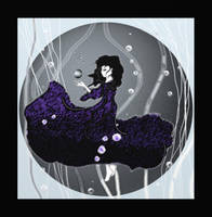 Black Bubbles by LodeinArt
