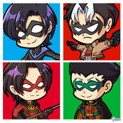 Batboys Chibi by poppyrous