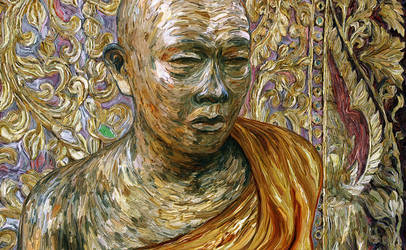 Gold Leaf Monk by Art-of-Eric-Wayne