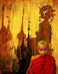 Mandalay Monk and Spires by Art-of-Eric-Wayne