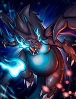 Mega Charizard X Fanart by Gallardose