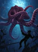 Octopus of the Deep by Gallardose