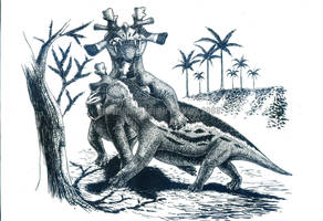 Estemmenosuchus mirabilis by T-PEKC