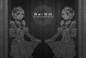 Re:Zero Ram N Rem by Rousteinire