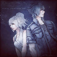 FFXV Lunafreya and Noctis by Rousteinire