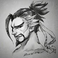 Overwatch - Hanzo Shimada by Rousteinire