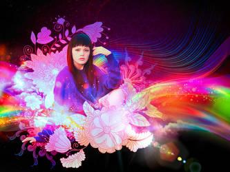 Purple Girl by area105