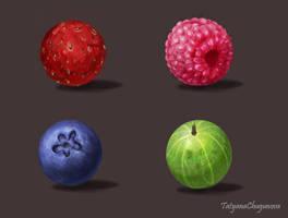 Material studies (berries_1) by TatyanaChugunova