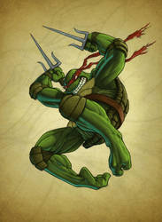 Raphael TMNT 2 by DeadPea