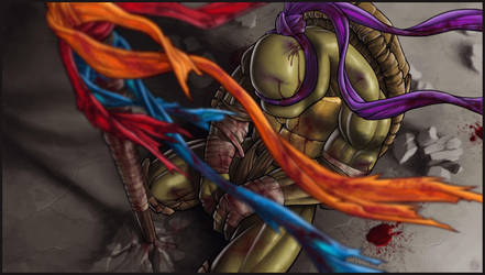 *DONATELLO* goodbye, my brothers... by DeadPea