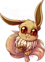 Eevee by Dogi-Crimson