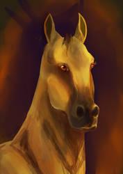 Golden horse by Venorra