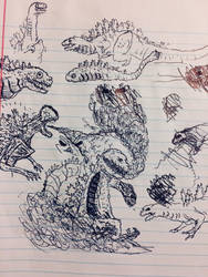 Bored Drawing #77 - goddammit by Apgigan