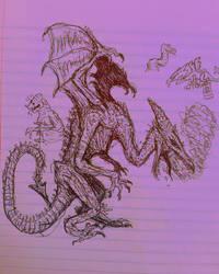Bored Drawing #82 - Big Time by Apgigan