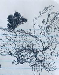 Bored Drawing #85 - Jho VS Los by Apgigan