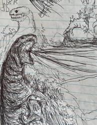 Bored Drawing #86 - old shin by Apgigan
