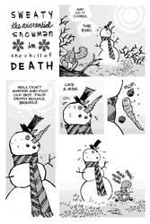 SWEATY THE EXISTENTIAL SNOWMAN by JasonLatour