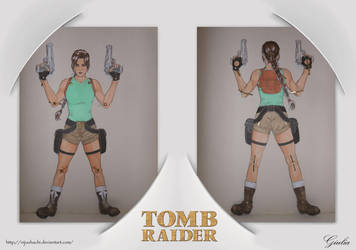 Lara Croft Paper Doll by nijuuhachi