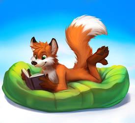 Enjoying a book - Drawn by thanshuhai by Hukley