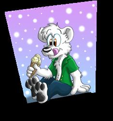 A True Ice Bear by Hukley