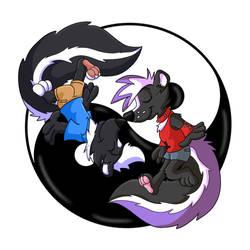 Skunk Yin Yang by Hukley