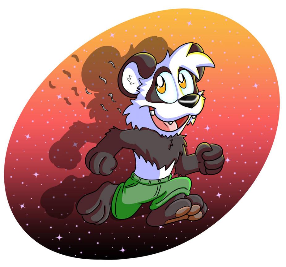 Keep going, Panda by Hukley