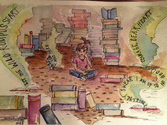 Emmy and her Books by ecphilips