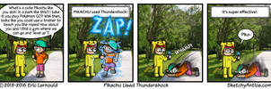 Pikachu Used Thundershock by SketchyAntics