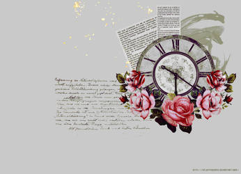 Clock roses by xFluffyBunnyx