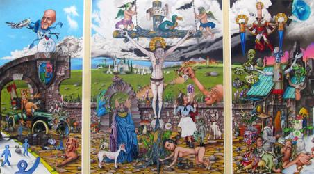 The Old-Timey Trinity of Sacrilicious by BlueBurgStudios