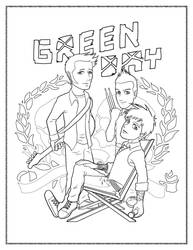 Green Day - Coloring Page by kelly42fox