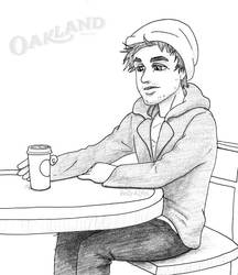 Billie Joe and a cup of Oakland Coffee by kelly42fox