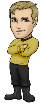 James T Kirk by kelly42fox
