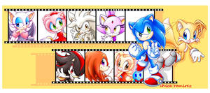 sonic and friends by chicaramirez