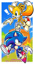 sonic and tails by chicaramirez