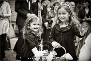 at a wedding - flowergirls by Finvara
