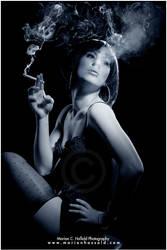 Smoking Woman by Finvara