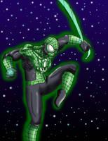 Emerald spider by kitsunekei1