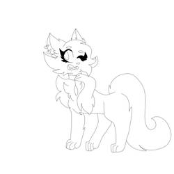 random lineart i drew because i was bored by FeraliXxi