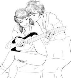 Luka and Marinette (my style) by LadyFreya123