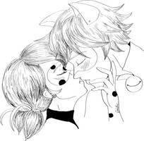 Ladynoir almost... almost kiss by LadyFreya123