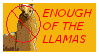 Anti-Llama Stamp by blazikensweety