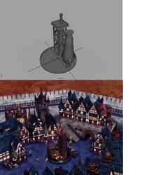 Kalm Project: Scene 1 Fountain by Blazingtalent