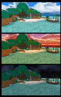 [MMD] Destiny Islands Stages - DL by Otzipai-Art