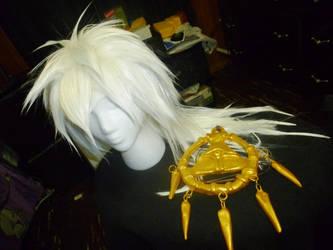 Ryou Bakura Wig and Millennium Ring by Tibra-chan