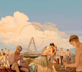 Seaside gathering by Taro-K
