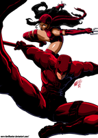 Murdock and Natchios.. colored by Nero-DevilHunter